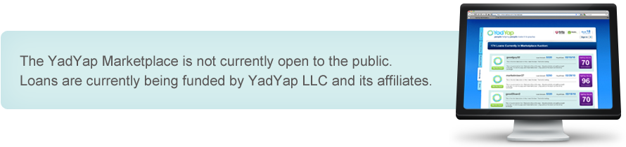 YadYap Marketplace is not currently open to the public.
